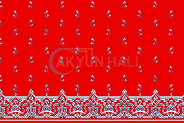 akyun-109 Yün Cami Halısı Deseni