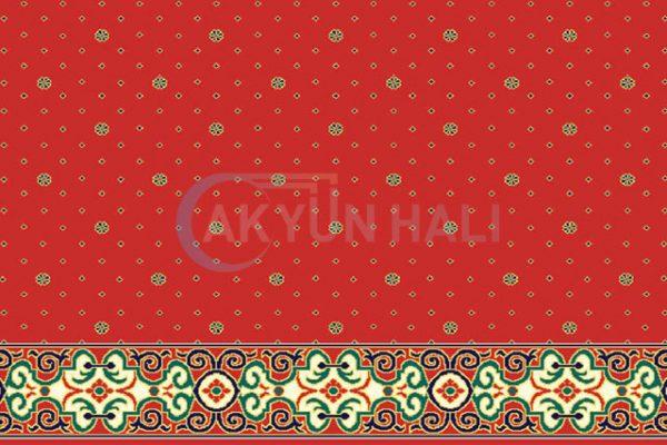 akyun-124 Yün Cami Halısı Deseni