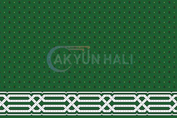 akyun-145 Yün Cami Halısı Deseni