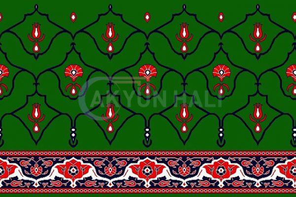 akyun-195 Yün Cami Halısı Deseni
