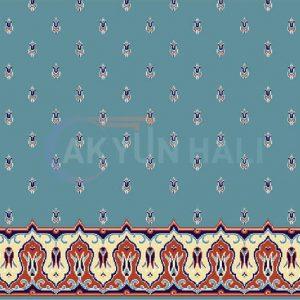 akyun-402 Yün Cami Halısı Deseni